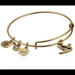 ALEX & ANI Gold Energy Bracelet (Dove)